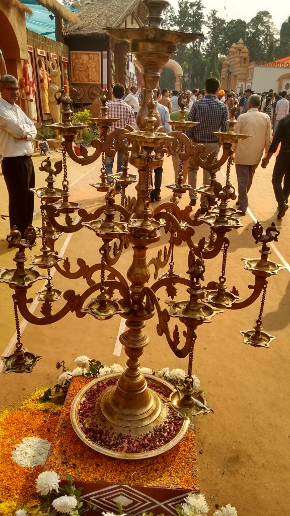 Bronze Diya Stand to lighten up